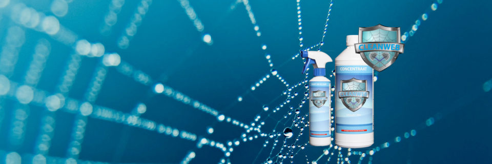 Cleanweb is een reinigingsproduct tegen insectenvervuiling. Het is veilig voor mensen, planten en dieren.